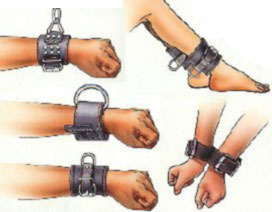 leather restraining gear